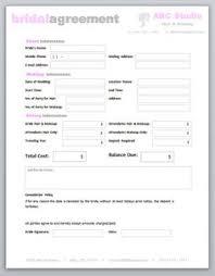 freelance hair stylist makeup artist bridal agreement contract template editable printable word doent 10