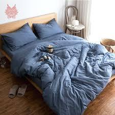 blue grey bedding denim blue grey white green solid bedding sets pure cotton duvet comforter cover blue grey bedding full queen duvet cover