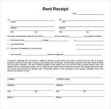 Rent Receipt Sample Template Business