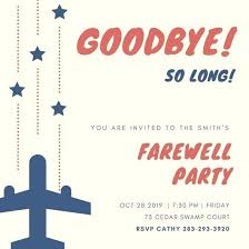 Goodbye Party Invitation Best Going Away Party Invitations Ideas On Magnificent Farewell Pinterest