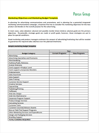 Marketing Budget Plan Free 5 Marketing Budget Forms In Sample Example Format
