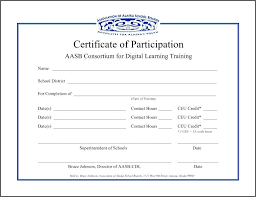 Printable Certificate Of Attendance Certificate Of Training