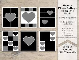 8 X 10 Heart Template 8x10 Photo Template Pack Heart Templates Photo Collage