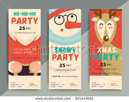 Christmas Party Flyer Template Design Xmas Stock Vector 521443051 ...
