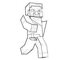 Minecraft Coloring Sheet Coloring Pages For Kids Regarding Of