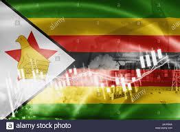 Zimbabwe Flag Stock Market Exchange Economy And Trade Oil