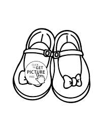 Small Picture girls shoes with bows coloring page printable free