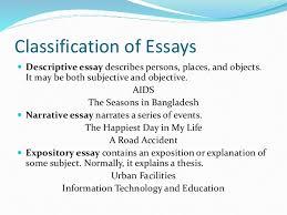 english composition skill 6 classification of essays  descriptive