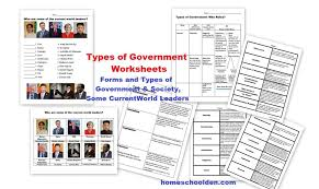 Types of Governments Worksheets – World Leaders (Currently Free ...