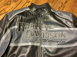 harley davidson mens classic cruiser winged bs black leather jacket img 2469