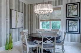 cool drum chandelier in dining room transitional with chandelier in kitchen next to bamboo wallpaper alongside drum chandelier and dining room lighting