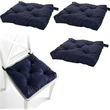 Amazon Set of 4 Navy Blue Chair Cushions Pads Machine