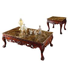 Even a simple design of a table will match your living room or a kitchen. Marble Top Coffee Table And End Table Small Table For Living Room Table Basse Et Table D Extremite Gh57 Super Sale 650021 Cicig