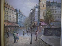 ine burnett oil painting paris scene sgnd coa 24 for