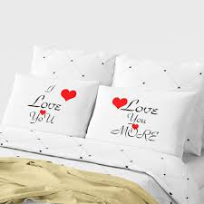 printed pillow cases. Couple Pillow Cases Red/White Printed Covers For Home,Valentine\u0027s Day Pillowcases