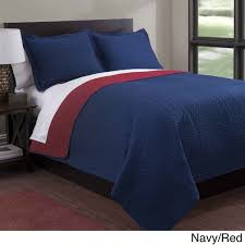Baltic Solid Reversible 3-piece Quilt Set - On Sale - Free ... & Baltic Solid Reversible 3-piece Quilt Set - On Sale - Free Shipping On  Orders Over $45 - Overstock.com - 16109401 Adamdwight.com