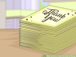 Thank You Note After Funeral To Coworkers How To Write A Thank You Note For Money With Sample Thank