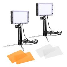 Light And Portable Emart 60 Led Continuous Portable Photography Lighting Kit For Table Top Photo Video Studio Light Lamp With Color Filters 2 Sets