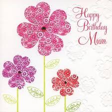 Pretty Flowers Mum Birthday Card