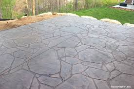 wonderful stamped concrete patio house decorating plan how to build a nest for less pl patio challenge how to build a concrete