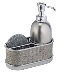 Amazon.com - mDesign Kitchen Sink Soap Dispenser Pump and Sponge ...