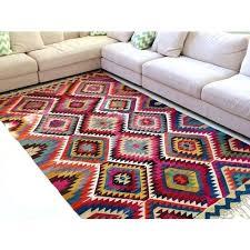 tile wool kilim rug orange rs square feet exports id