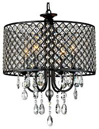antique black 4 light round crystal chandelier