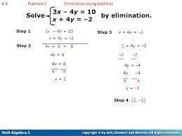 3x 4y 10 solve by elimination x 4y 2 6 3