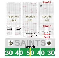 New Orleans Saints Superdome Seating Chart Mercedes Benz Superdome Seating Chart Row Seat Numbers