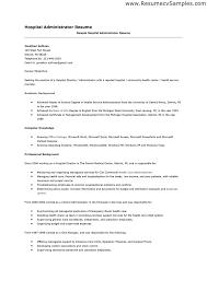 resume for hospital administrator   sales   administrator   lewesmrsample resume  how to make hospital administrator resume