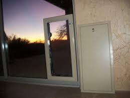 image of sliding glass dog door lock