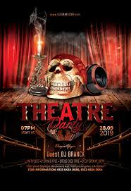 Part Flyer Theatre Party Free Flyer Psd Template By Elegantflyer