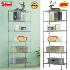 6 tier metal wire shelving unit rack adjule garage kitchen storage organizer