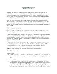 Essay Speech Example Example Informative Essay My Doctor Says Resume ...