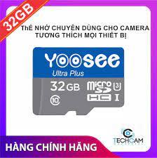 Thẻ nhớ YooSee 32GB cao cấp - chuyên dùng cho camera giá rẻ 59.000₫