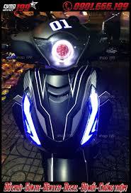Độ đèn xi nhan led Audi xe Sh, đèn bi gương cầu Sh, đèn O'block , Angel  Eyes , Devil Eyes cho SH 150i, Sh 125i, SH 300i, Sh ý , Sh