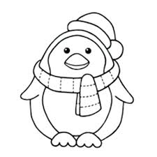 Exquisite Design Coloring Page Penguin Cute Baby Penguin Coloring