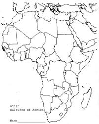 Empty Map Of Africa Www Tollebild Com