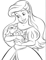 Cute Baby Princess Ariel Coloring Pages 754 Princess Ariel Coloring