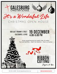 christmas open house flyer galesburg christian school christmas open house wgil 93 7 fm 1400 am
