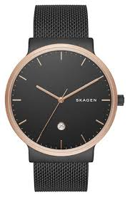 skagen mens black stainless steel mesh watch skw6296 roll over image to zoom in click to view expanded skagen watches