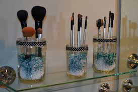 brush holder beads. makeup brush holder gl jar from homegoods and beads tips e