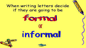 Formal And Informal Letters Youtube