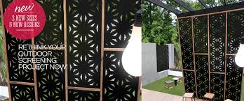 Outdoor Garden Screen Panels Designs