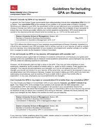Academic Achievement Resume Guidelines For Including Gpa On Resumes