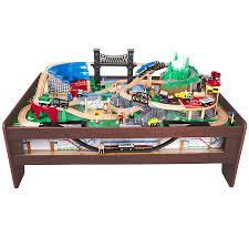 view larger imaginarium metroline train table espresso toys