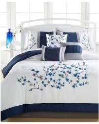 white california king comforter. Kira Navy 7-Pc. California King Comforter Set, Embroidered - Navy/White White