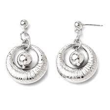 icecarats 925 sterling silver textured post stud drop dangle chandelier earrings earrings best canada