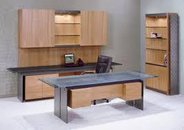 office furniture glass. Modern Executive Office Set With Steel I-beams And Stone \u0026 Glass Tops On Metal Furniture
