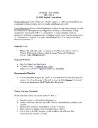 How To Write A Syllabus En 1102vu Syllabus Victory University